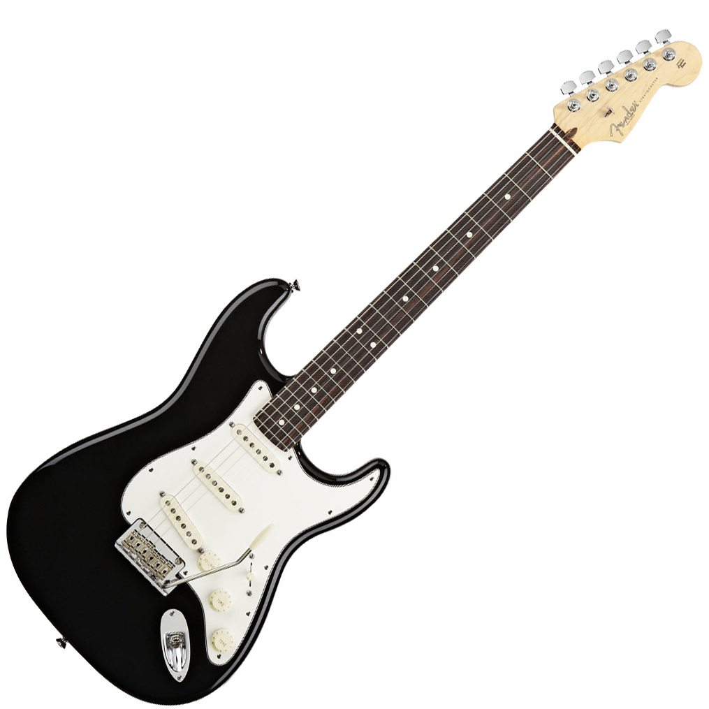 fender american standard stratocaster electric guitar black with rosewood fingerboard styles music. Black Bedroom Furniture Sets. Home Design Ideas