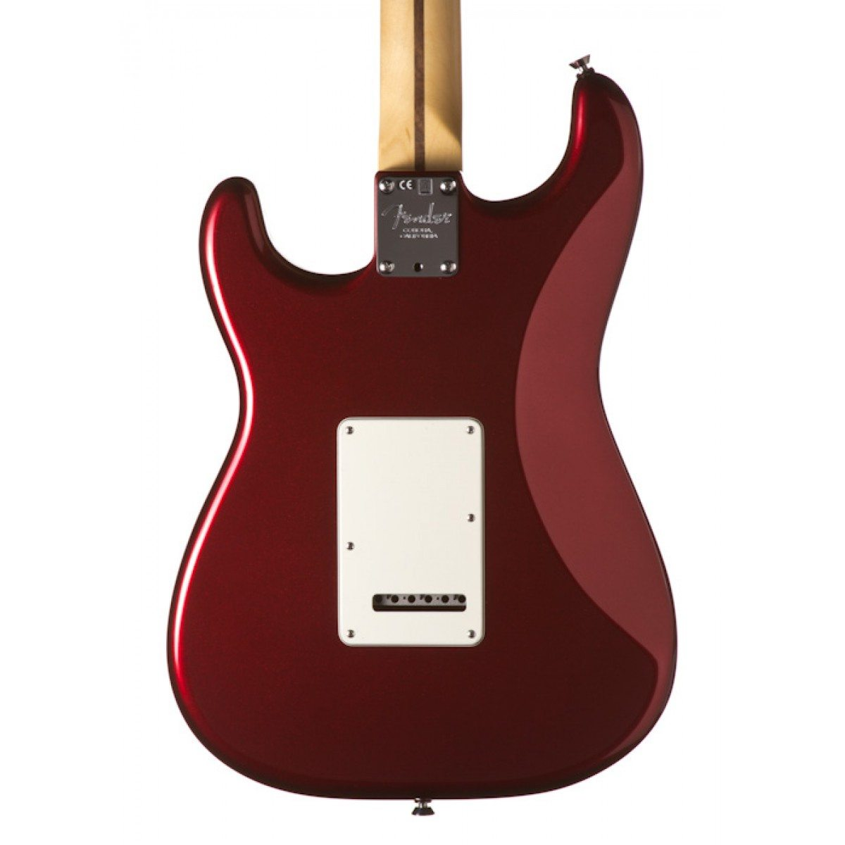 Fender American Standard Stratocaster Electric Guitar, Mystic Red,Maple  Fingerboard and Case